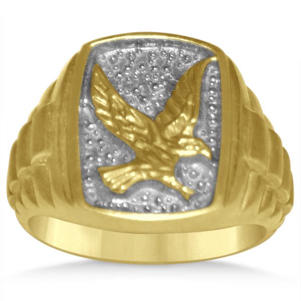 Diamond Animal Fashion Ring in 14k Two Tone Gold (0.05ct)