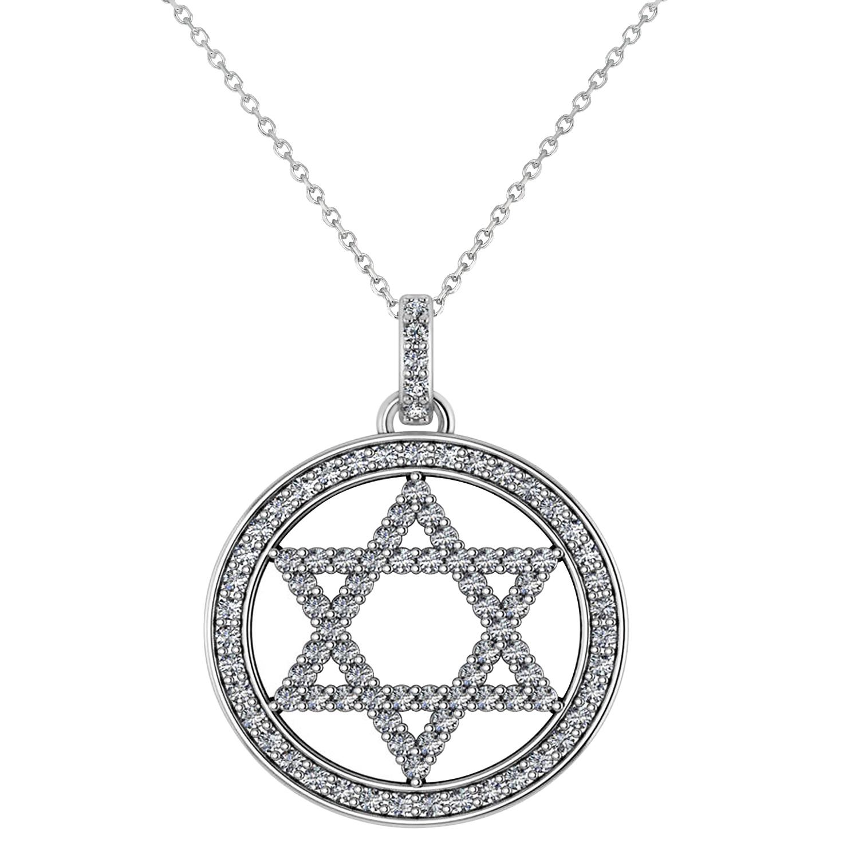 Diamond jewish star david pendant necklace 14k white gold 092ct diamond jewish star of david pendant necklace 14k white gold 092ct aloadofball Image collections