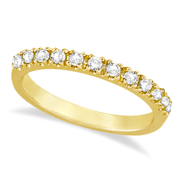 Diamond Stackable Ring Anniversary Band 14k Yellow Gold (0.25ct)