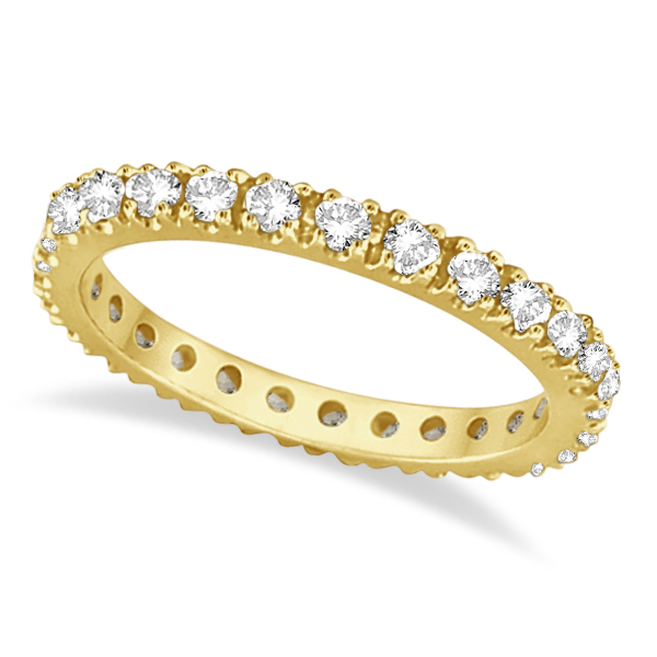 Diamond Eternity Stackable Ring Wedding Band 14K Yellow Gold (0.51ct)