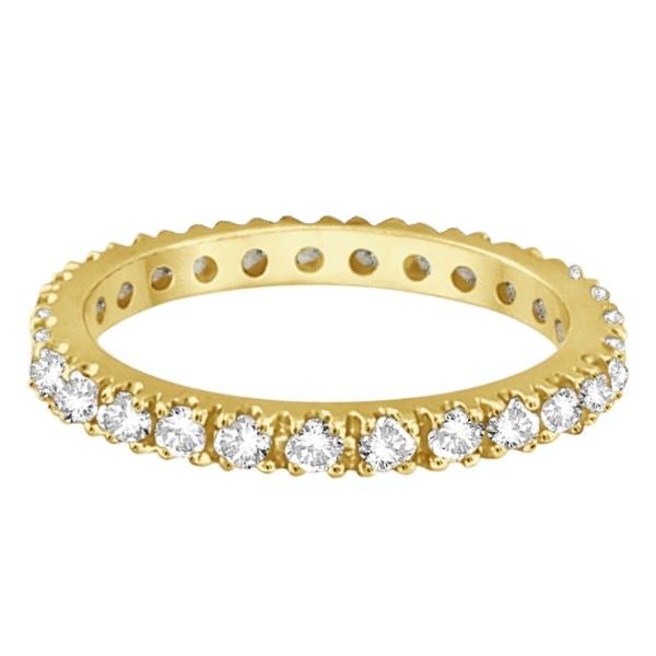 Diamond Eternity Stackable Ring Wedding Band 14K Yellow Gold (0.51ct)