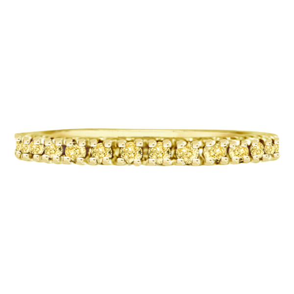 Yellow Sapphire Eternity Ring Band 14k Yellow Gold (0.75ct)