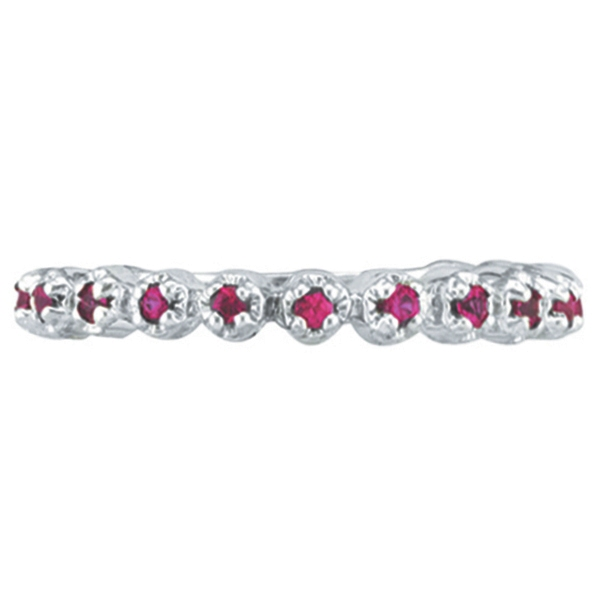 Pink Sapphire Ring Guard in 14k White Gold