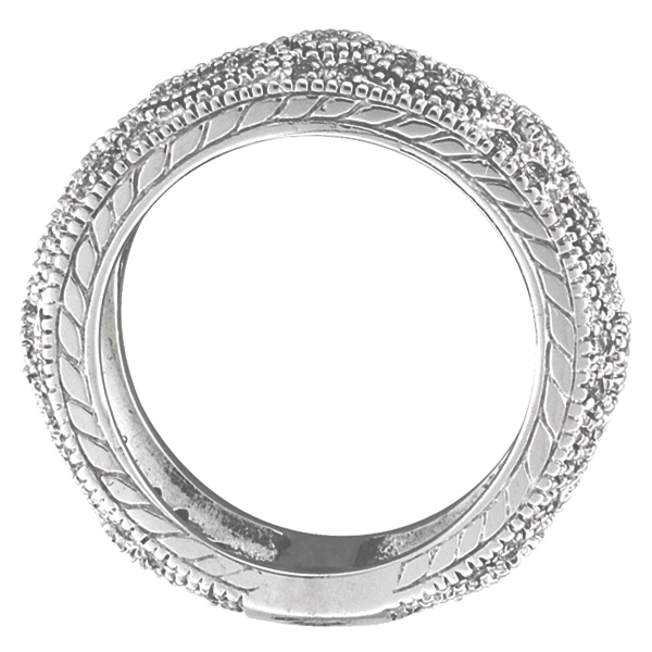 Antique Style Eternity Band 14k White Gold (0.80 ctw)