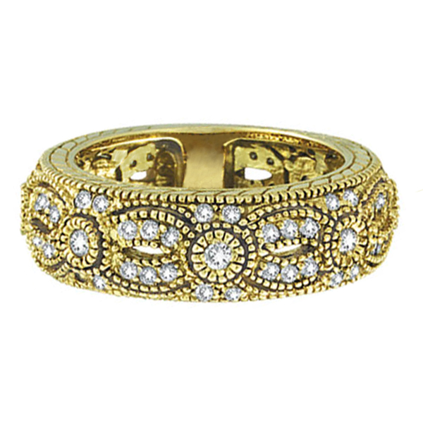Antique Style Diamond Ring 14K Yellow Gold (0.80 ct)