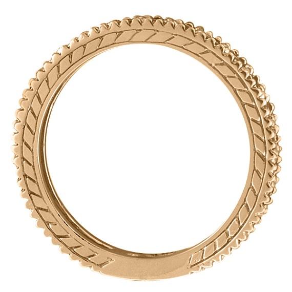 Diamond & Amethyst Eternity Ring Band 14k Rose Gold (1.08ct)