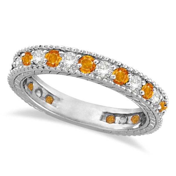 ct citrine diamond yellow flower ring womens halo gold