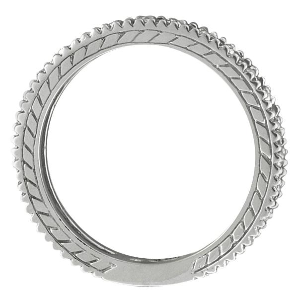 Diamond & Citrine Eternity Ring Band 14k White Gold (1.08ct)