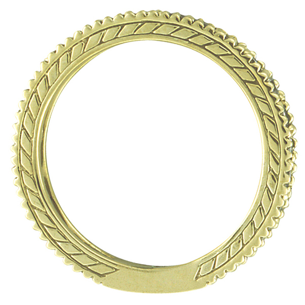 Diamond & Aquamarine Eternity Ring Band 14k Yellow Gold (1.08ct)