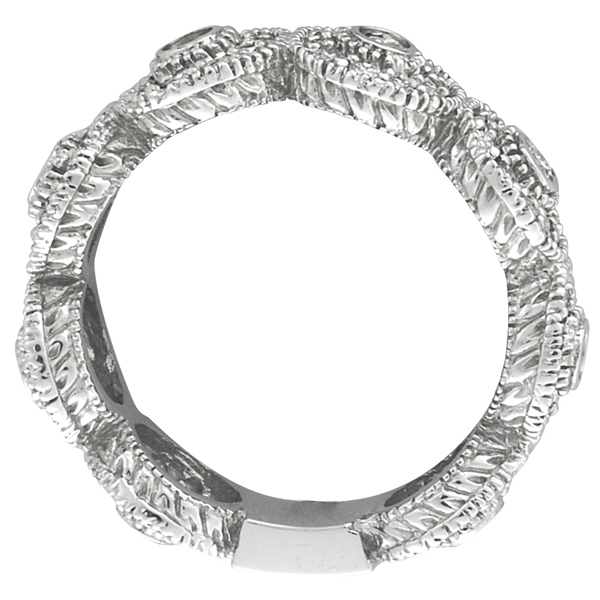 Venetian Eternity Diamond Ring With Circles 14k White Gold (1.26 ctw)