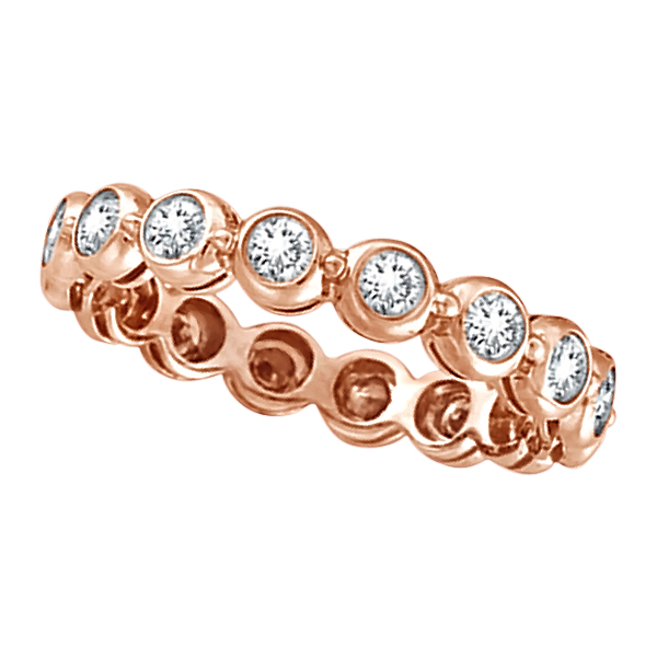 Bezel-Set Diamond Eternity Ring Band 14k Rose Gold (1.00ct)