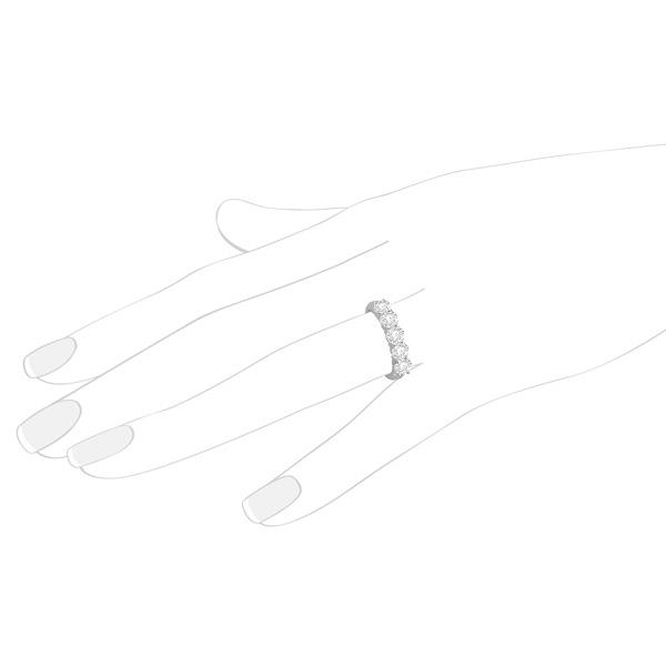 Five Stone Diamond Ring Anniversary Band 14k White Gold (2.50ctw)