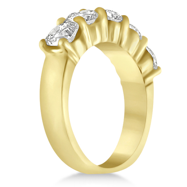 Five Stone Diamond Ring Anniversary Band 14k Yellow Gold (2.50 ctw)