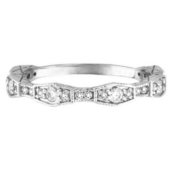 Diamond Wedding Band /Anniversary Ring in 14k White Gold (0.38 ctw)