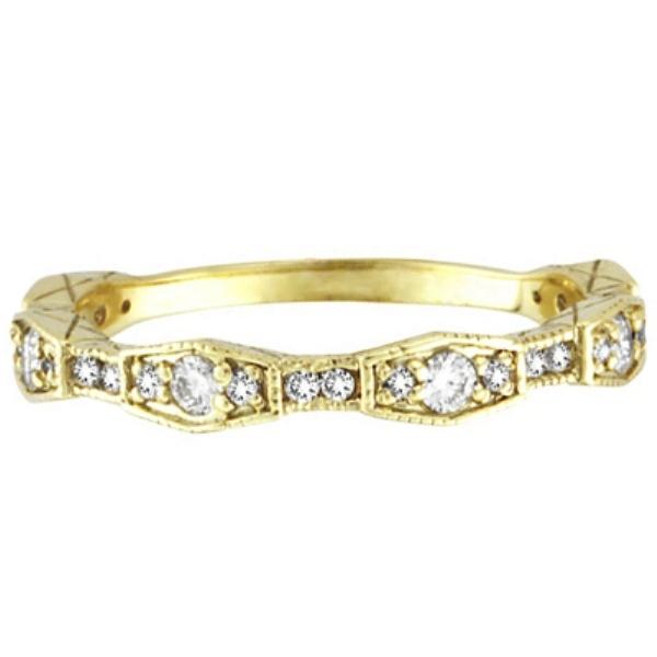 Diamond Wedding Band in 14k Yellow Gold (0.38 ctw)