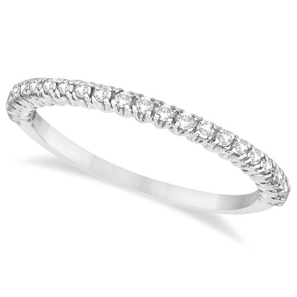 Half-Eternity Pave-Set Diamond Stacking Ring Palladium (0.25ct)
