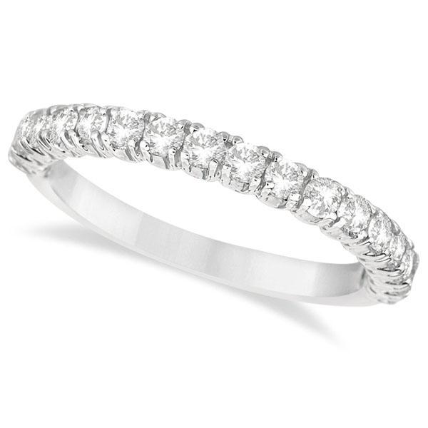 Half-Eternity Pave-Set Diamond Stacking Ring Palladium (0.75ct)