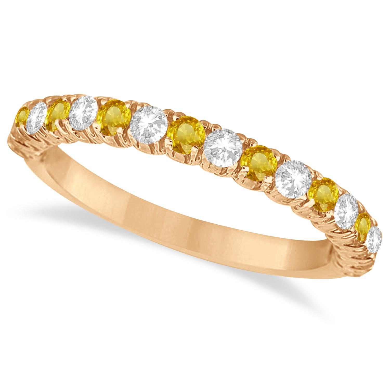 yellow sapphire diamond wedding band anniversary ring. Black Bedroom Furniture Sets. Home Design Ideas