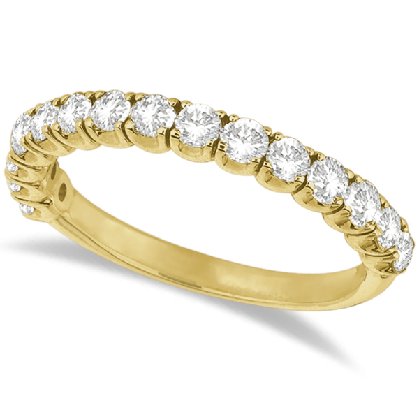 Diamond Wedding Band Anniversary Ring in 14k Yellow Gold (1.00ct)