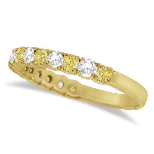 Yellow Canary & White Diamond Anniversary Band 14k Yellow Gold (1.00ct)