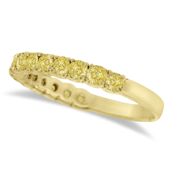 Yellow Canary Diamond Ring Anniversary Band 14k Yellow Gold (1.00ct)