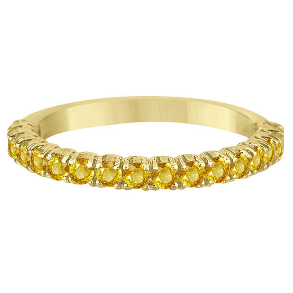 Half-Eternity Pave Yellow Sapphire Stack Ring 14k Yellow Gold (0.95ct)