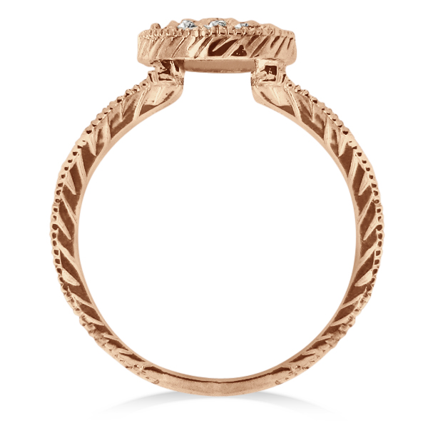 Circle Diamond Right Hand Cocktail Ring in 14k Rose Gold (0.55ct)