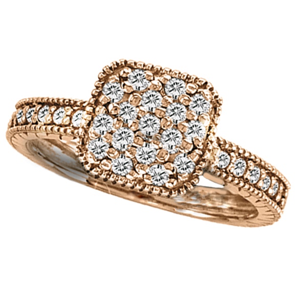 Diamond Cocktail Ring in 14K Rose Gold (0.50 ctw)