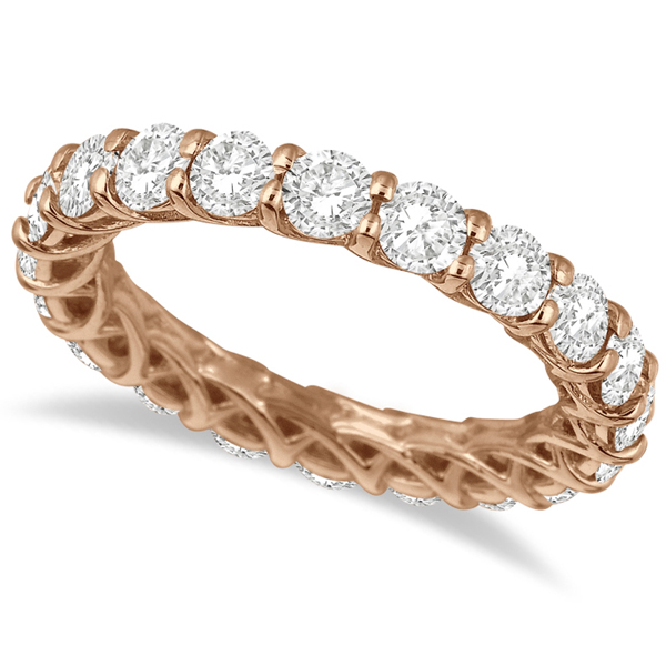 Luxury Diamond Eternity Anniversary Ring Band 14k Rose Gold (3.50ct)