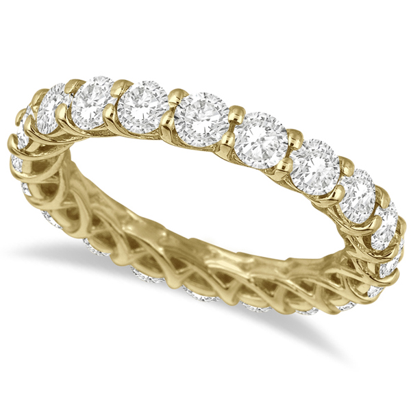 Luxury Diamond Eternity Anniversary Ring Band 14k Yellow Gold (3.50ct)
