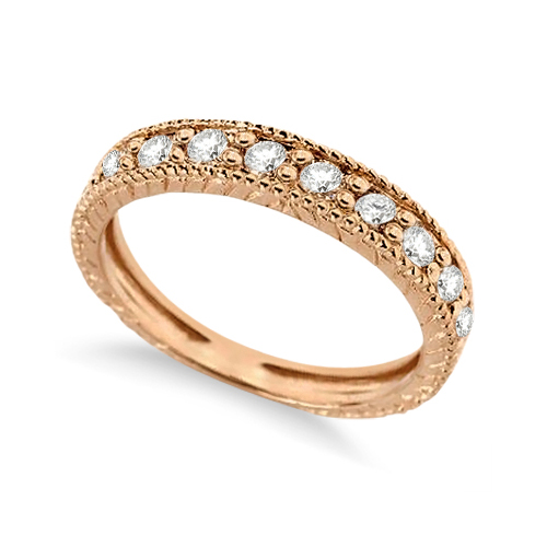 Diamond Anniversary Ring 14k Rose Gold (0.55 ctw)