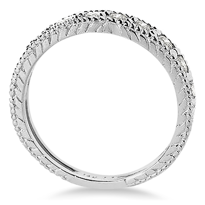 Diamond Anniversary Ring 14k White Gold (0.55 ctw)