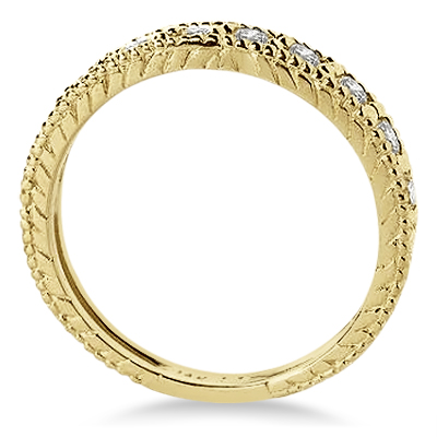 Diamond Anniversary Ring 14k Yellow Gold (0.55 ctw)
