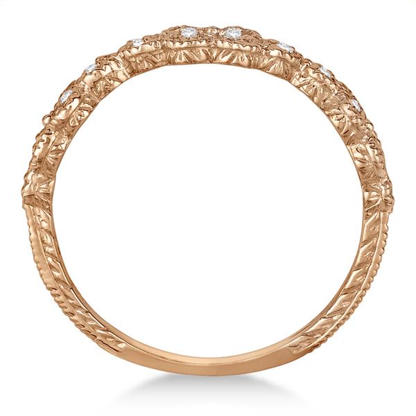 Four-Leaf Diamond Flower Ring 14k Rose Gold (0.30ct)