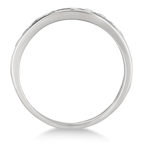 Channel-Set Diamond Anniversary Ring Band Palladium (0.40ct)