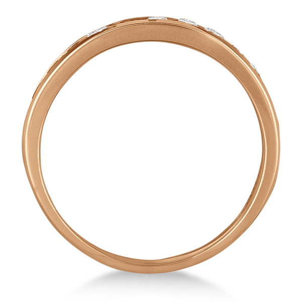 Channel-Set Round Diamond Ring Band 14k Rose Gold (1.25ct)