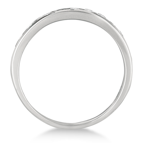 Channel-Set Diamond Anniversary Ring Band 14k White Gold (1.05ct)