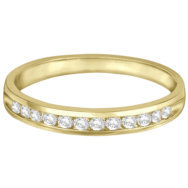 Channel-Set Diamond Anniversary Ring Band 14k Yellow Gold (0.25ct)
