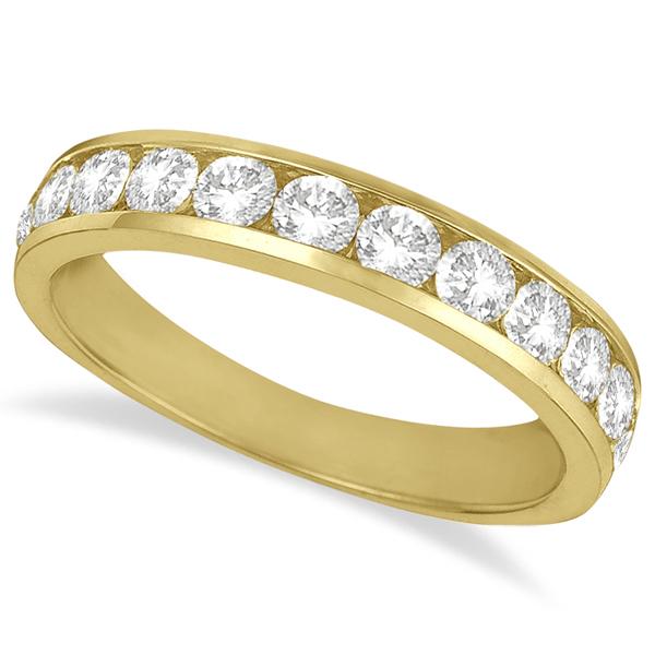 Channel-Set Diamond Anniversary Ring Band 14k Yellow Gold (1.05ct)