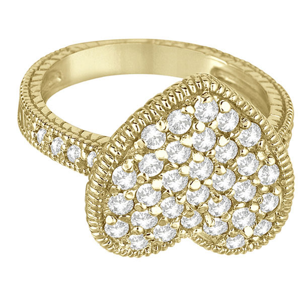 Puff Heart Diamond Ring 14k Yellow Gold (1.00ct)