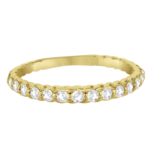 Half-Eternity Pave Diamond Anniversary Ring 14K Yellow Gold (0.36ct)