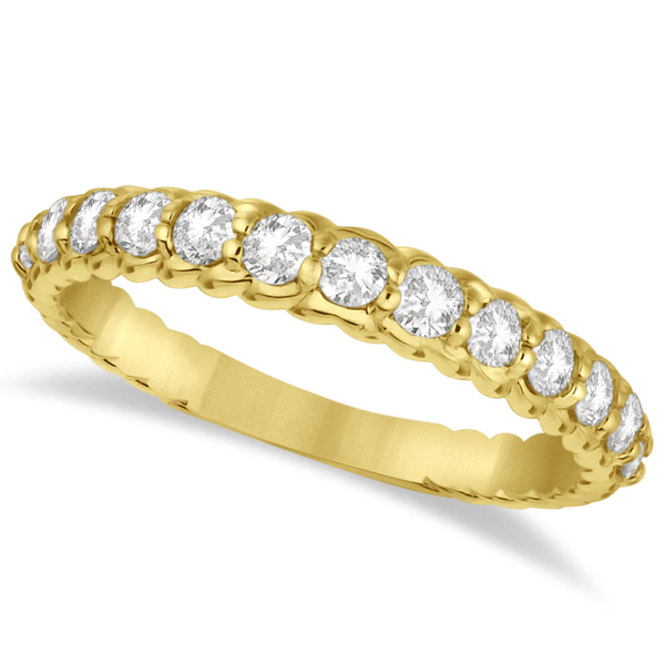 Semi-Eternity Diamond Anniversary Band 14K Yellow Gold (0.64ct)