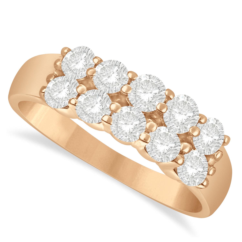 Double Row Diamond Ring 14k Rose Gold (1.00ct)