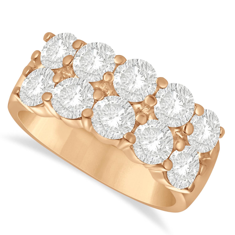 Double Row Diamond Ring 14k Rose Gold (3.00ct)
