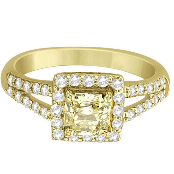 Yellow Diamond Split-Shank Engagement Ring 18k Yellow Gold (1.25ct)