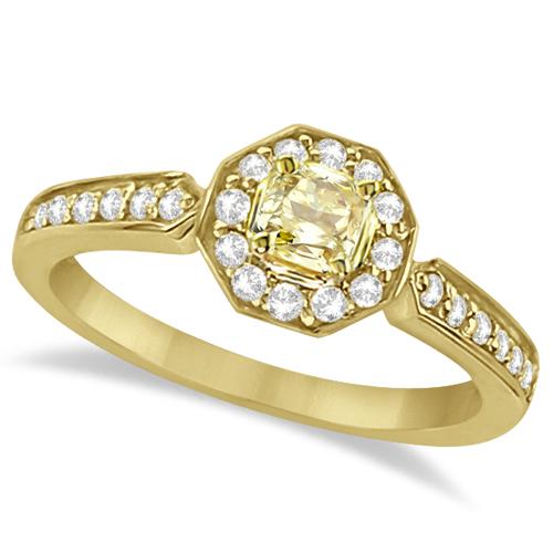 Modern Yellow Canary Diamond Engagement Ring 18k Yellow Gold (0.56ct)
