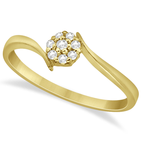 s cluster promise ring 14k yellow gold 0 08ct