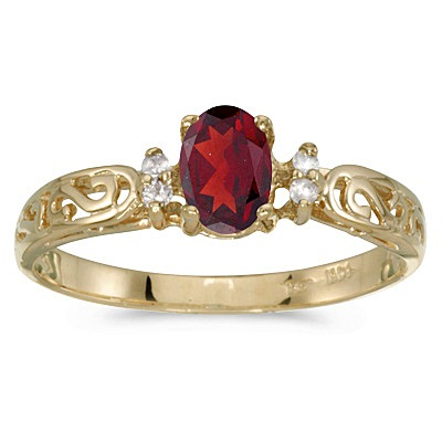 Ruby and Diamond Filigree Ring Antique Style 14k White Gold