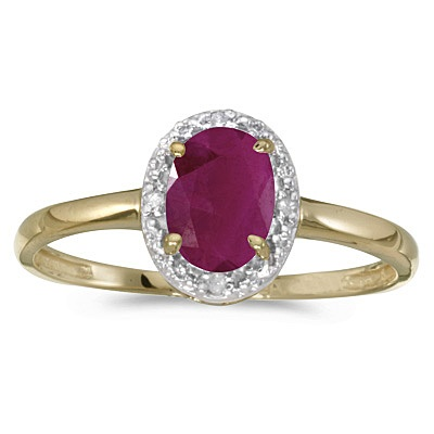 Ruby and Diamond Cocktail Ring in 14K Yellow Gold (0.95ct)