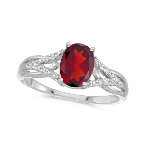 Oval Ruby and Diamond Cocktail Ring in 14K White Gold (1.52 ctw)